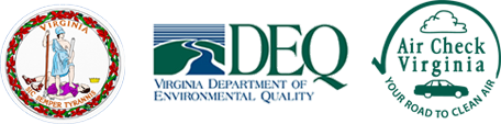 VA State Seal, DEQ, Air Check Virginia Seals